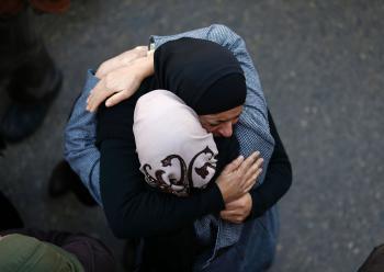 Mourning Palestinian Teen.