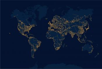 Global light emissions map.